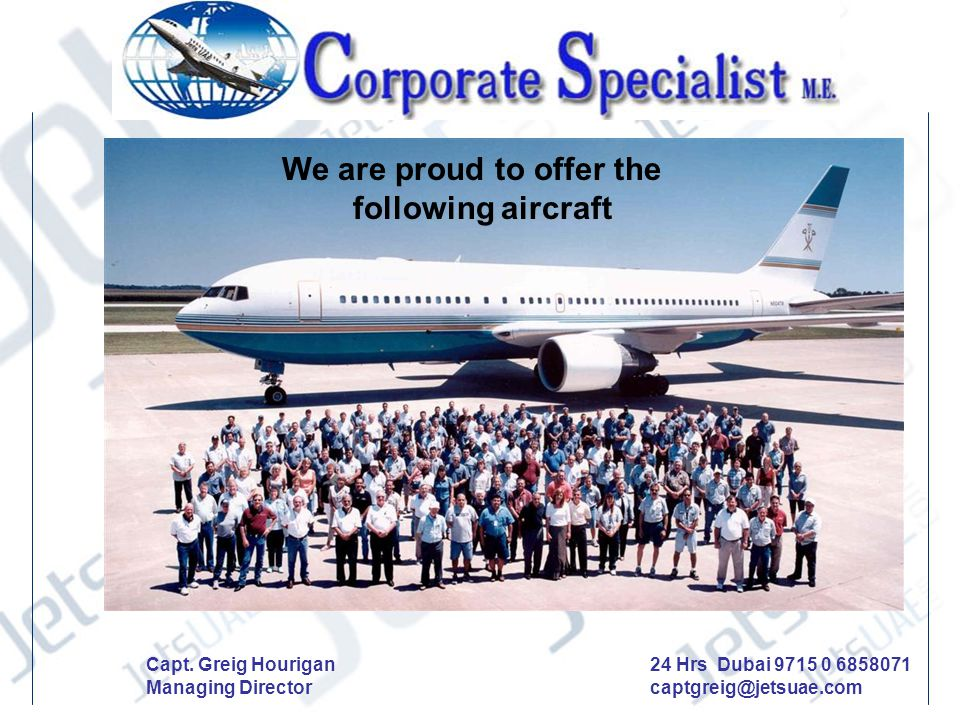 We are proud to offer the following aircraft
