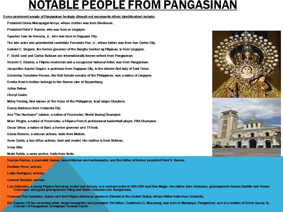 Notable people from Pangasinan