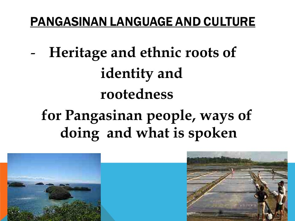 Pangasinan language and culture