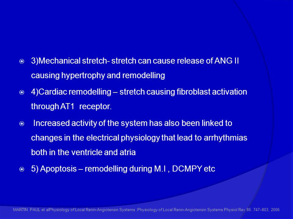 5) Apoptosis – remodelling during M.I , DCMPY etc