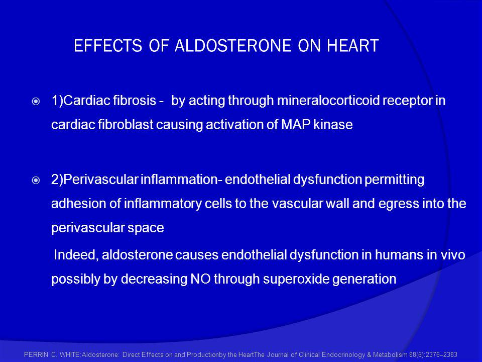 EFFECTS OF ALDOSTERONE ON HEART