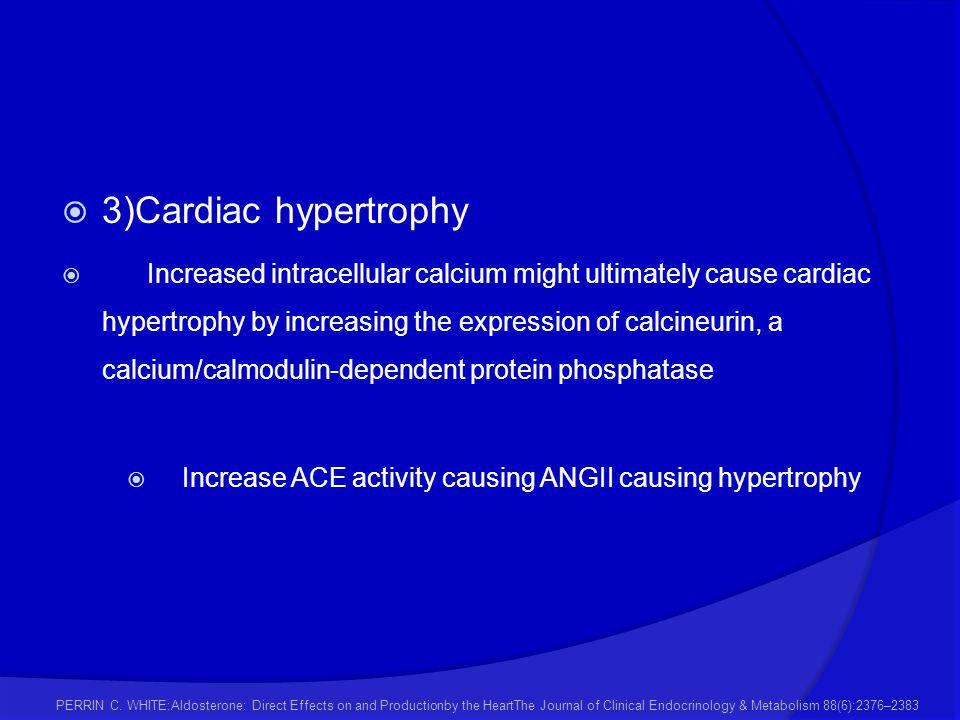 Increase ACE activity causing ANGII causing hypertrophy