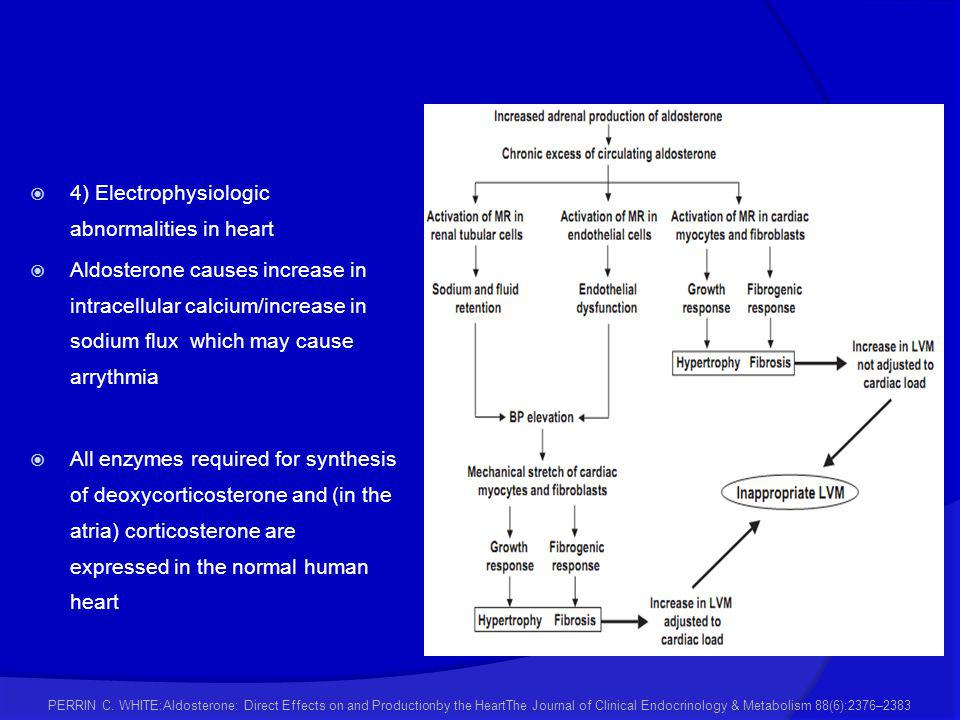 4) Electrophysiologic abnormalities in heart