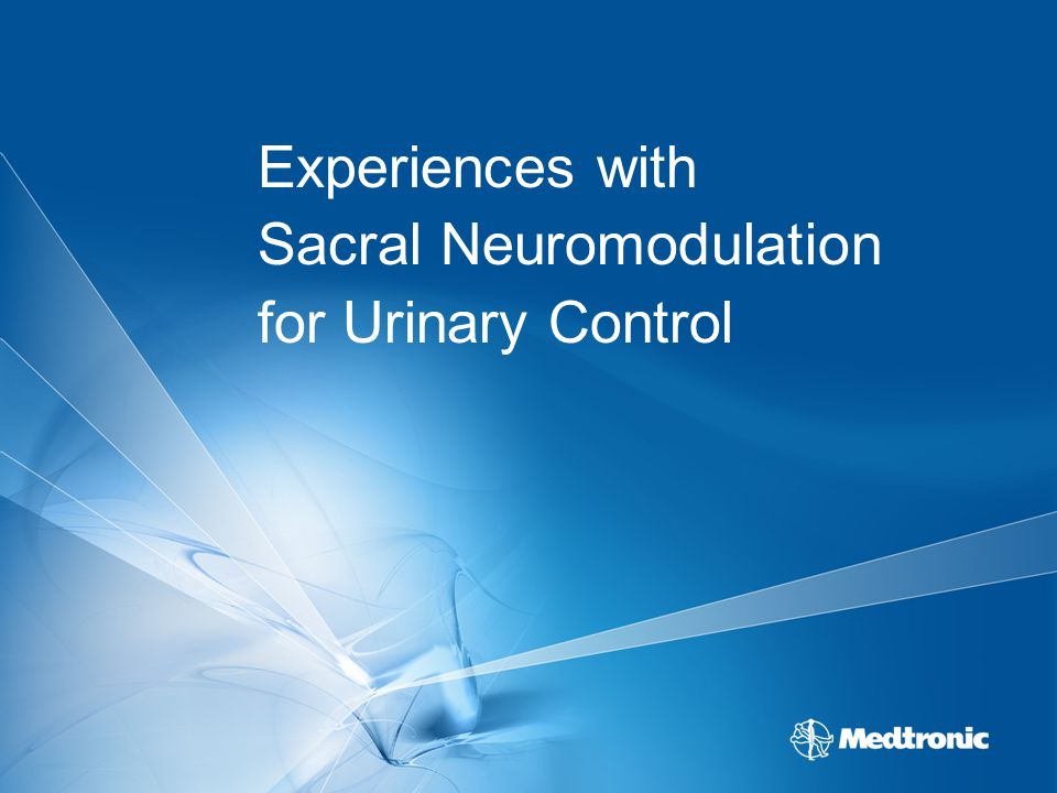 Experiences with Sacral Neuromodulation for Urinary Control