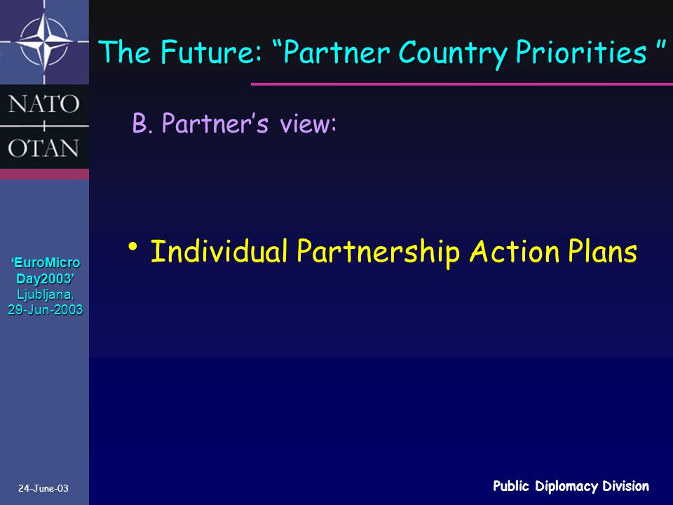 The Future: Partner Country Priorities