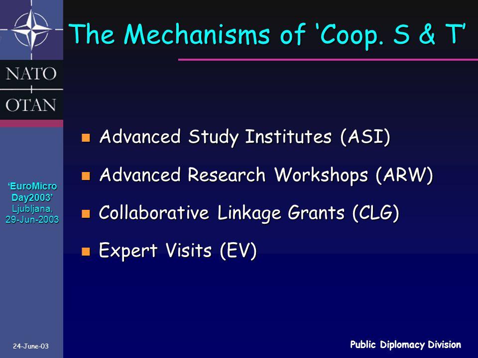 The Mechanisms of 'Coop. S & T'
