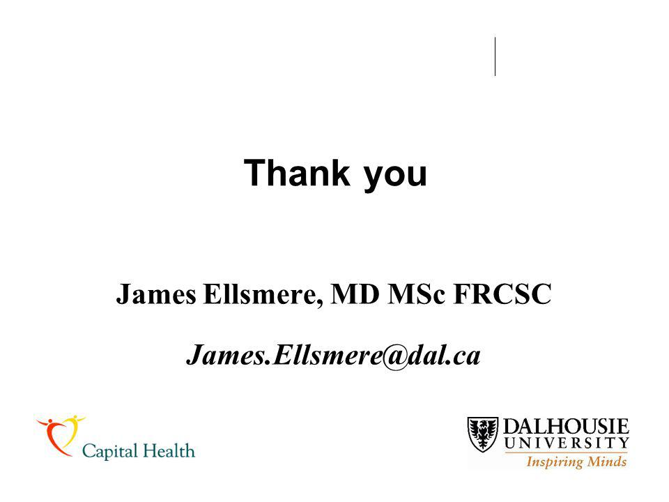 James Ellsmere, MD MSc FRCSC James.Ellsmere@dal.ca
