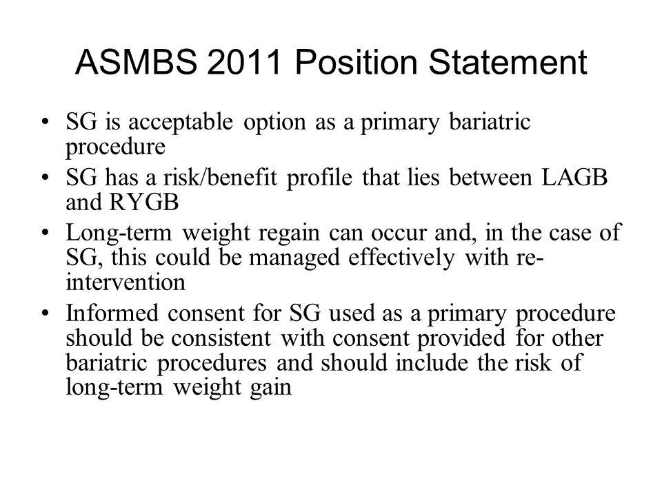 ASMBS 2011 Position Statement