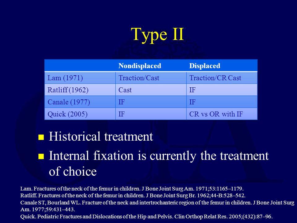 Type II Historical treatment