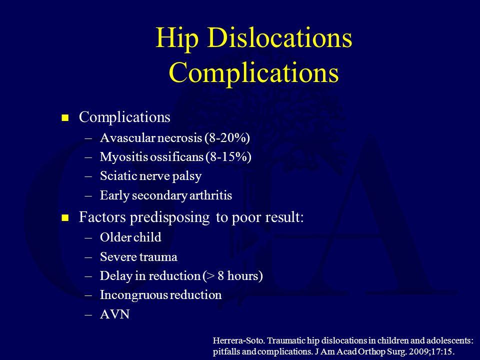 Hip Dislocations Complications