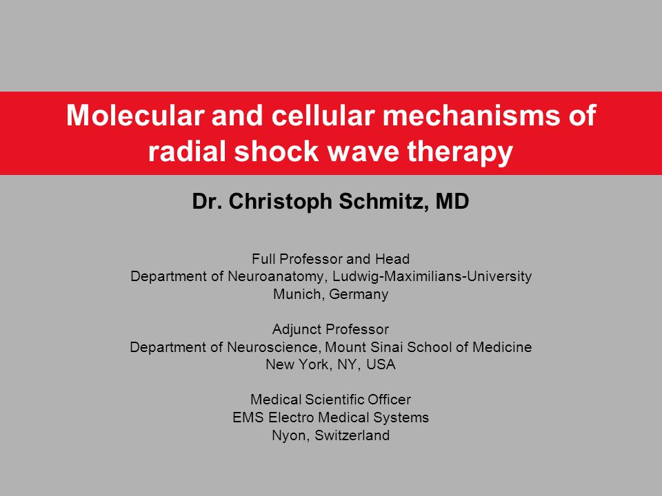 Molecular and cellular mechanisms of radial shock wave therapy