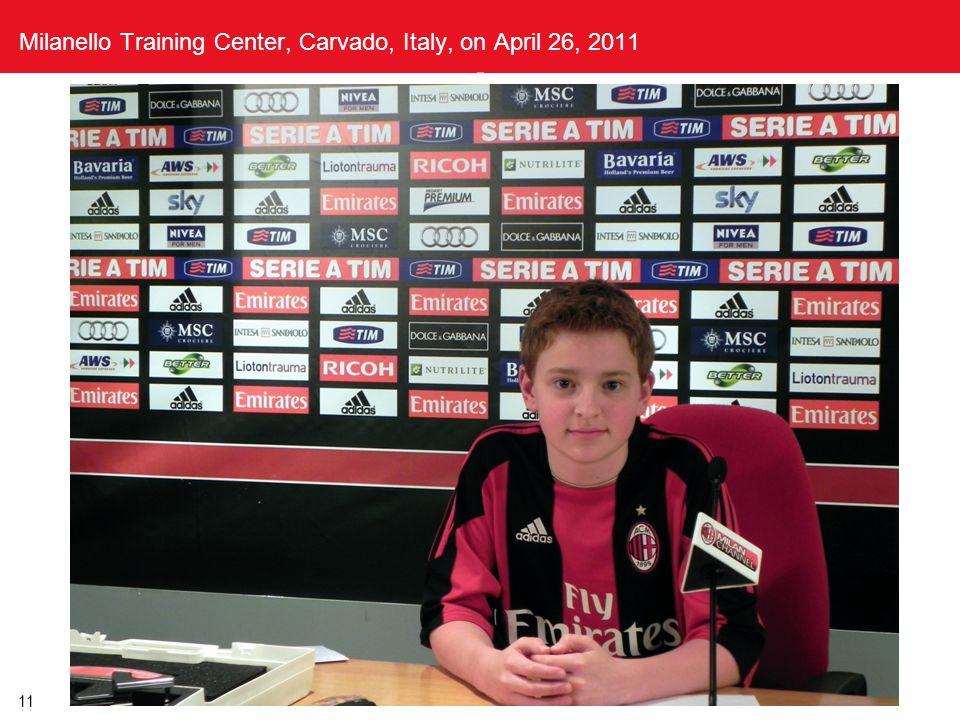 Milanello Training Center, Carvado, Italy, on April 26, 2011