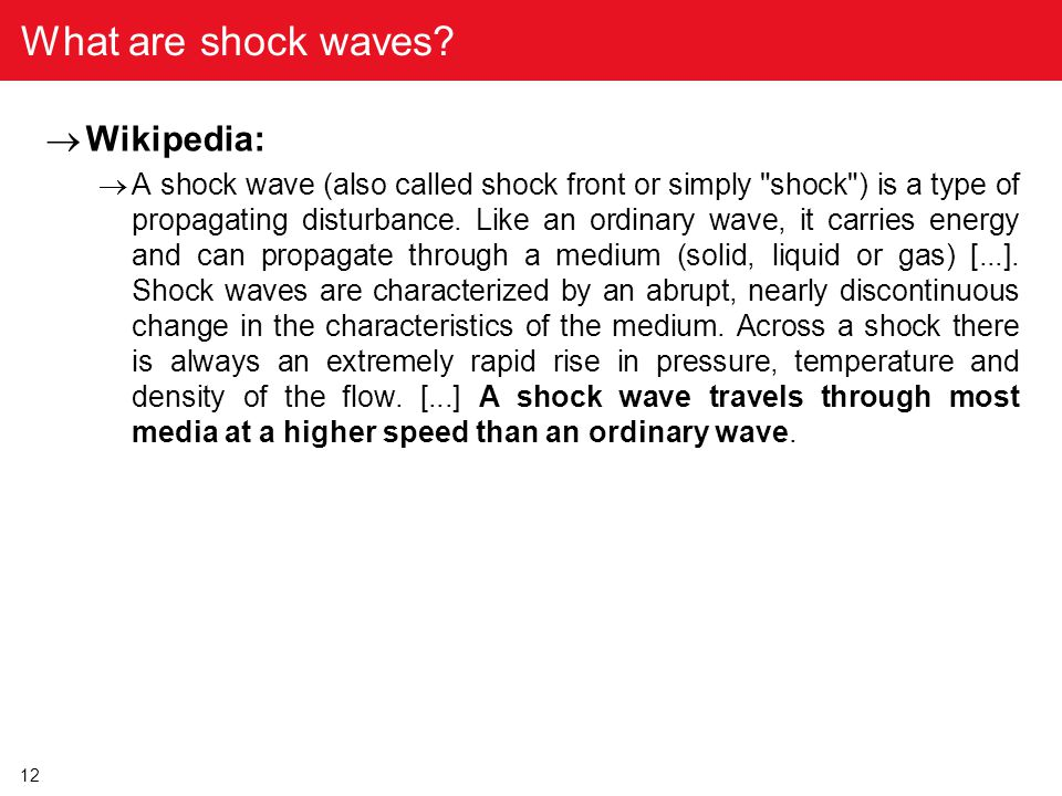 What are shock waves Wikipedia: