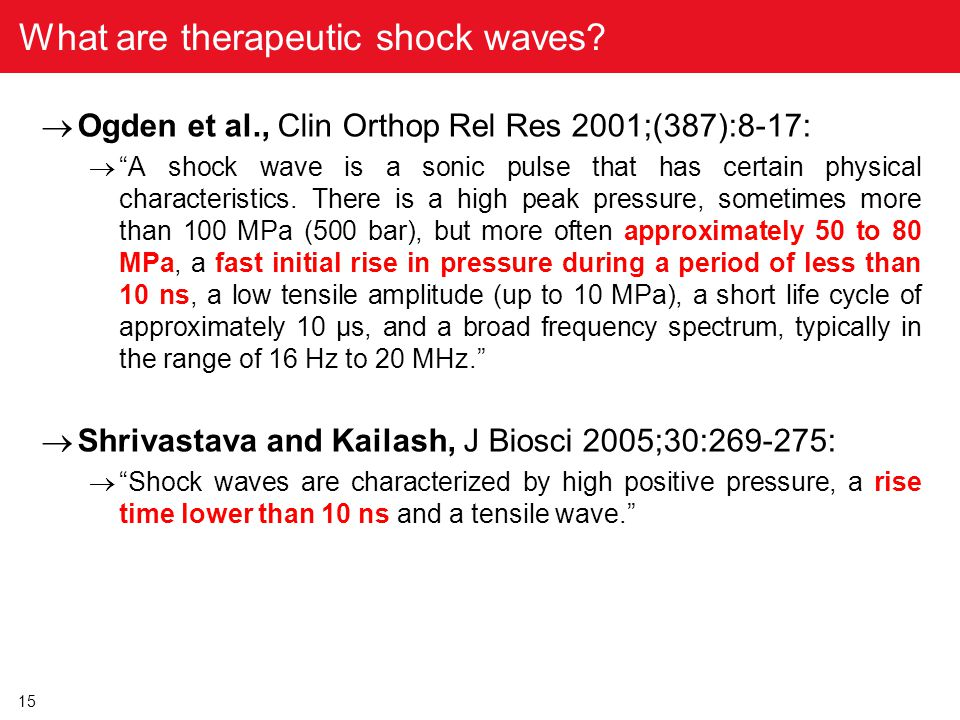What are therapeutic shock waves