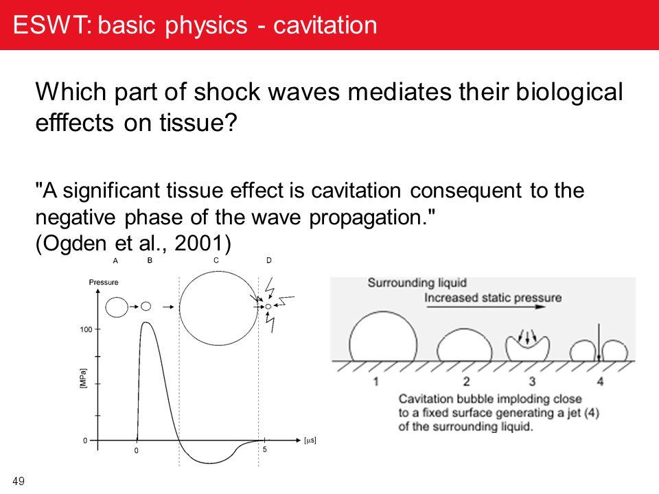 ESWT: basic physics - cavitation