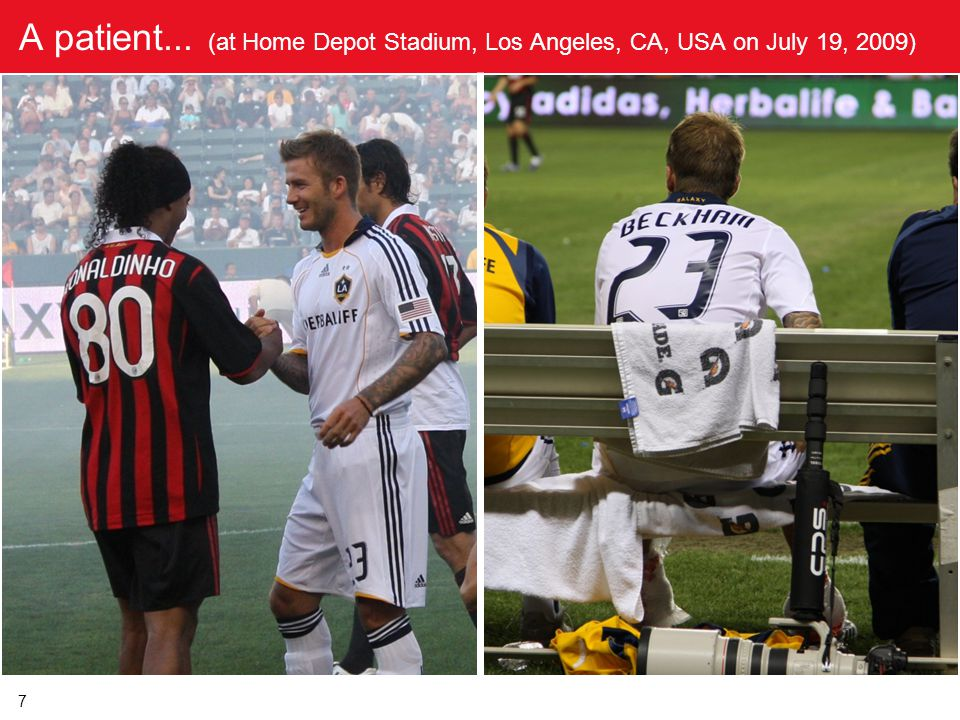 A patient... (at Home Depot Stadium, Los Angeles, CA, USA on July 19, 2009)