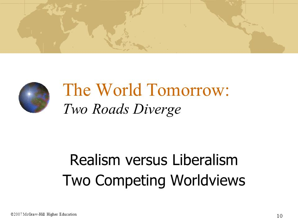 The World Tomorrow: Two Roads Diverge