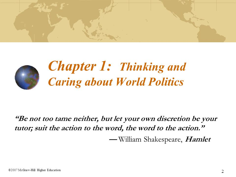 Chapter 1: Thinking and Caring about World Politics