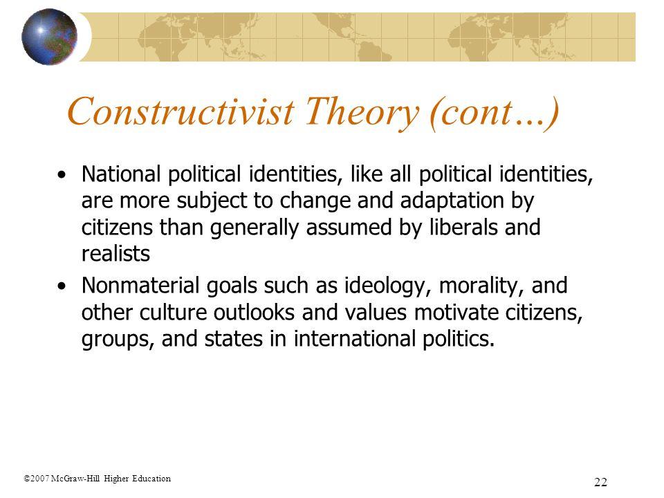 Constructivist Theory (cont…)