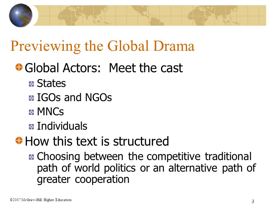 Previewing the Global Drama