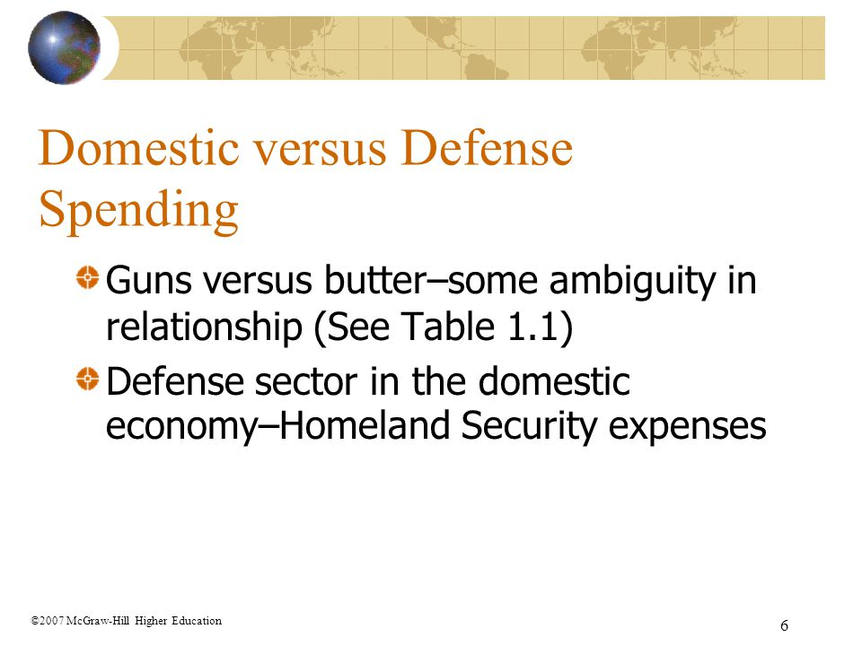 Domestic versus Defense Spending