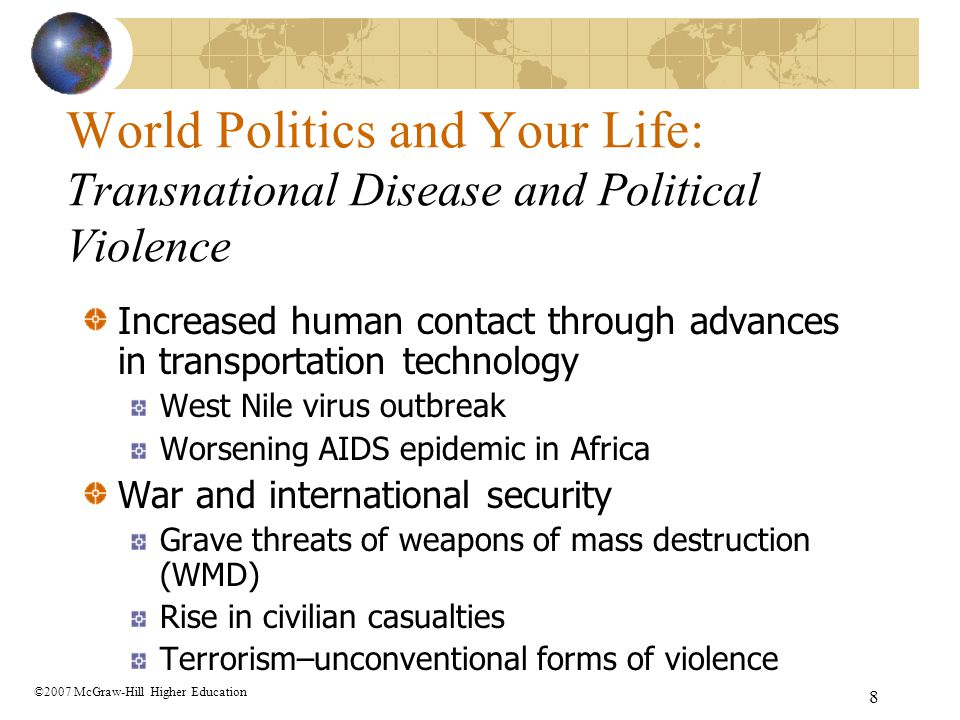 World Politics and Your Life: Transnational Disease and Political Violence