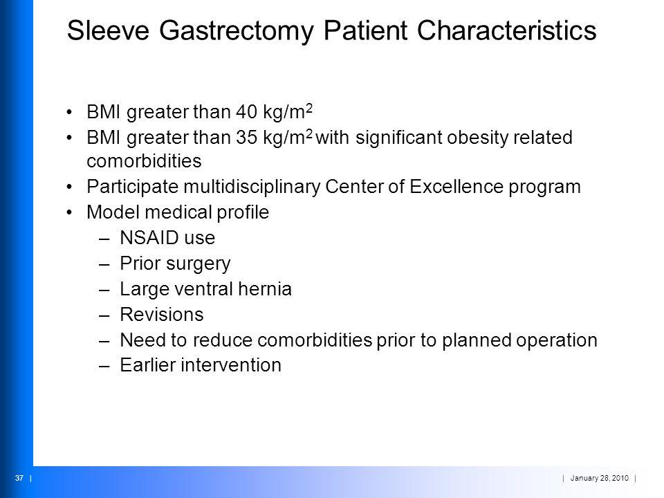 Sleeve Gastrectomy Patient Characteristics