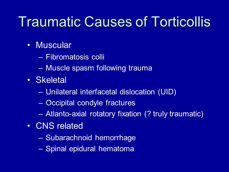 Traumatic Causes of Torticollis