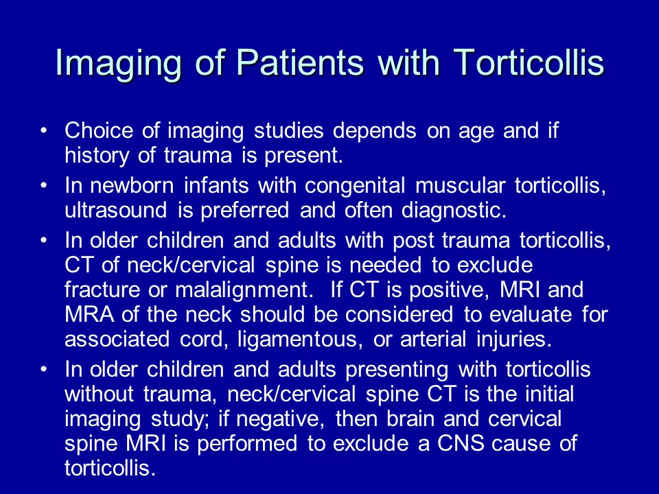 Imaging of Patients with Torticollis