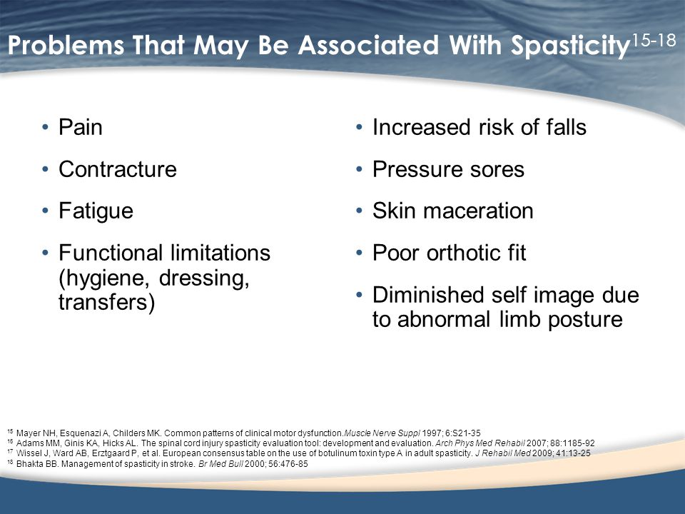 Problems That May Be Associated With Spasticity15-18