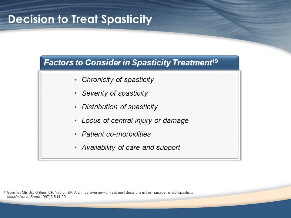 Decision to Treat Spasticity