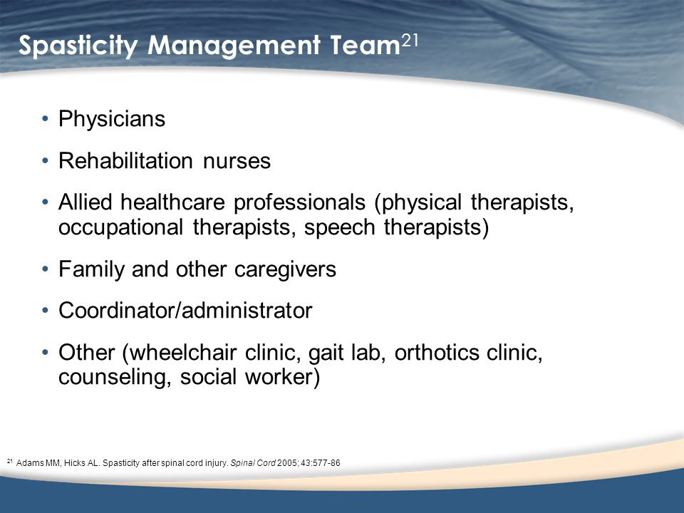 Spasticity Management Team21