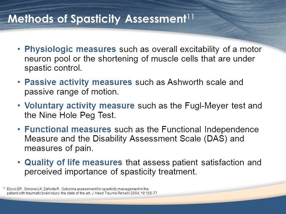 Methods of Spasticity Assessment11