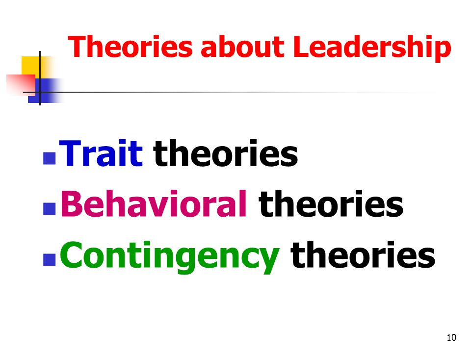 Theories about Leadership
