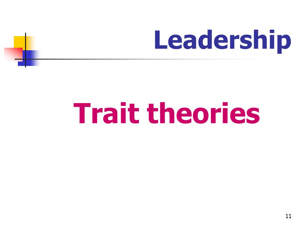 Leadership Trait theories
