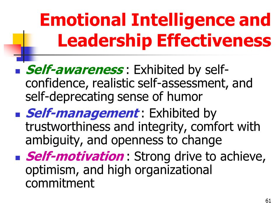 Emotional Intelligence and Leadership Effectiveness