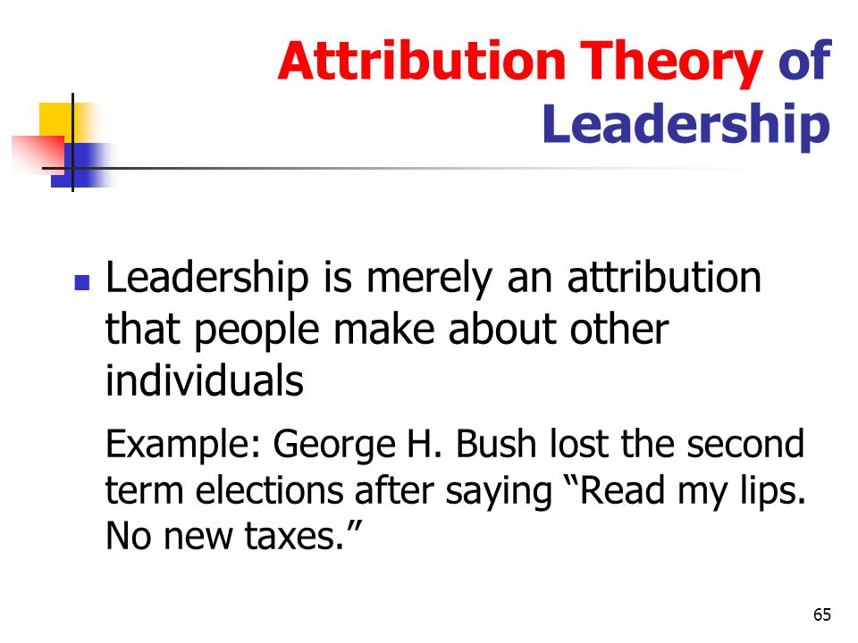 Attribution Theory of Leadership
