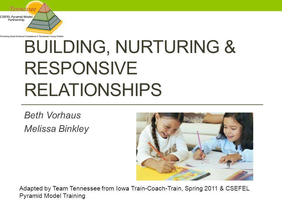 Building, Nurturing & Responsive Relationships