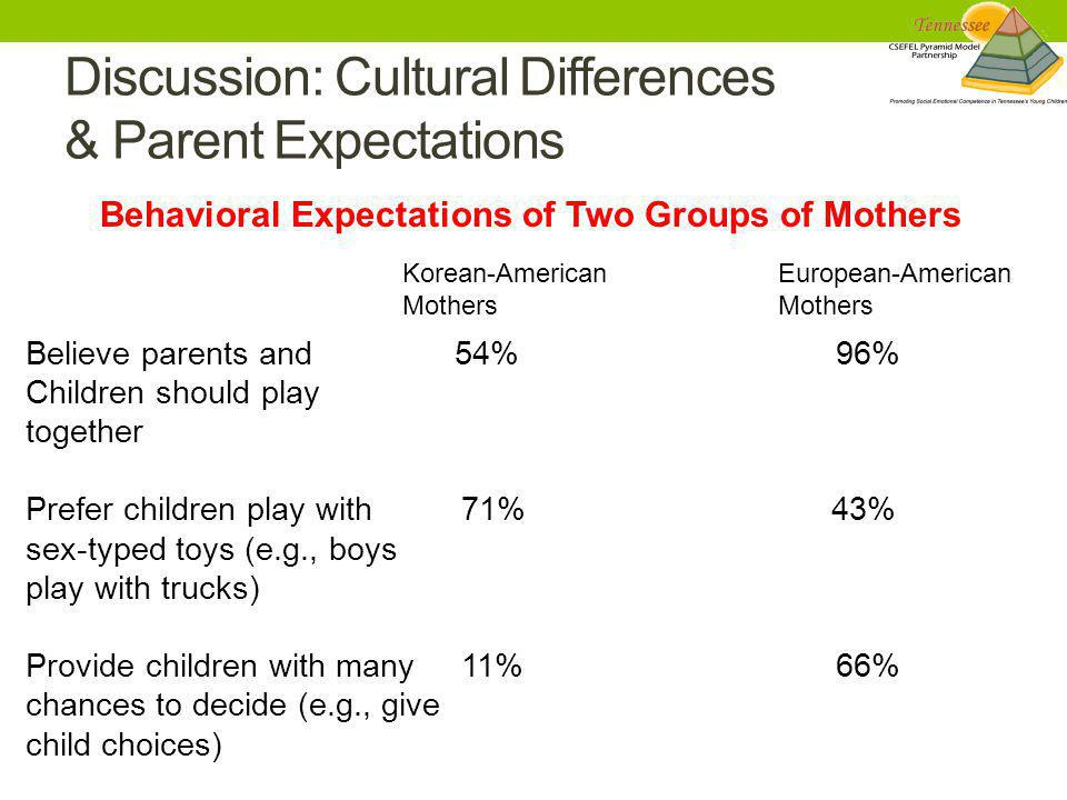 Discussion: Cultural Differences & Parent Expectations