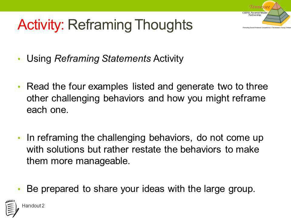 Activity: Reframing Thoughts