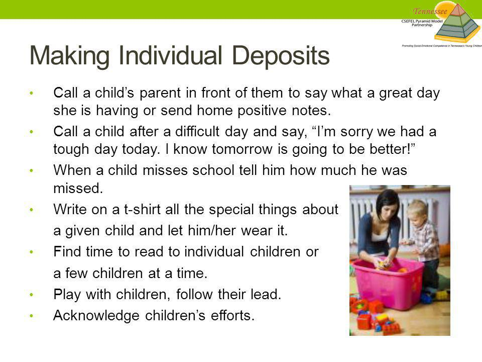 Making Individual Deposits