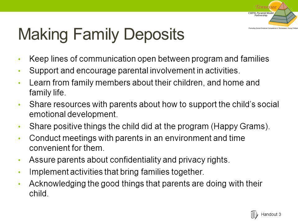 Making Family Deposits