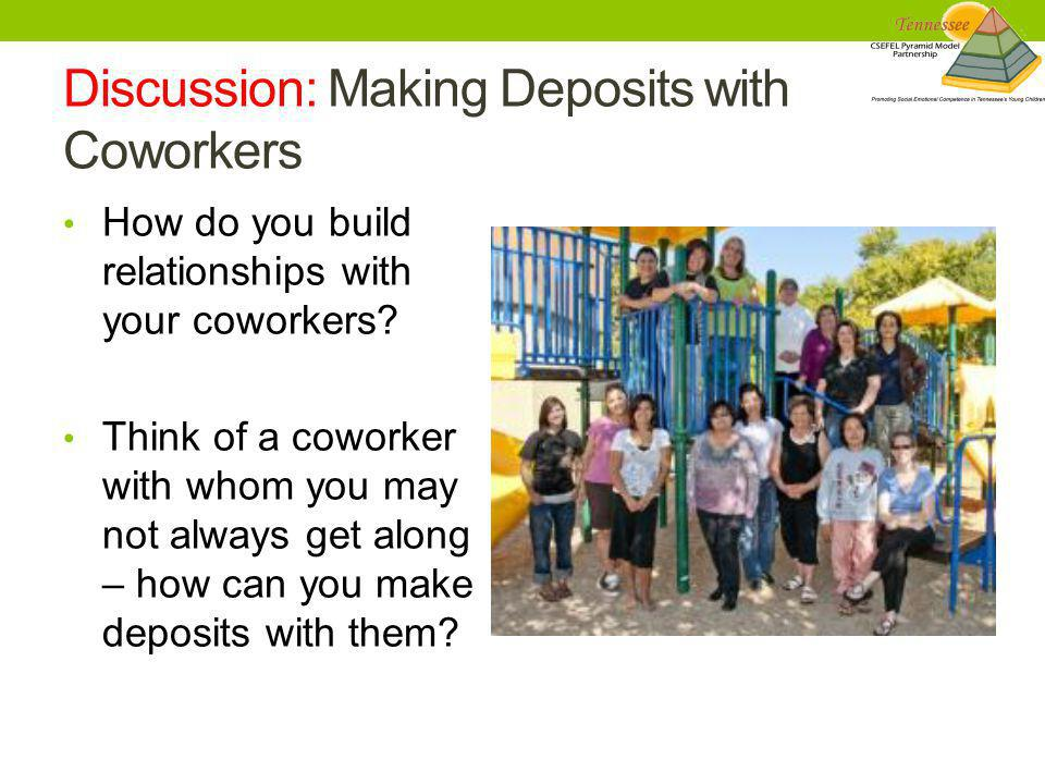 Discussion: Making Deposits with Coworkers