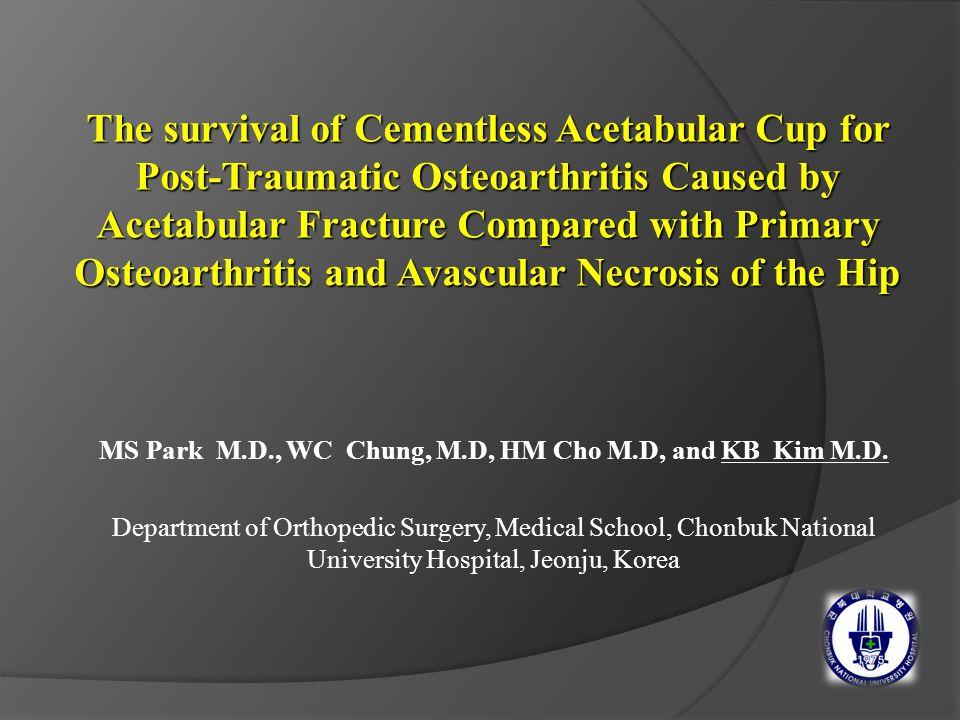MS Park M.D., WC Chung, M.D, HM Cho M.D, and KB Kim M.D.