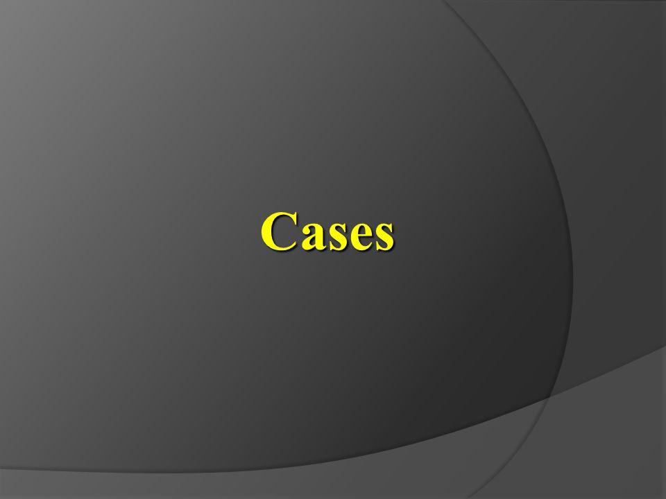 Cases 증례(case) 입니다. Let me show the cases