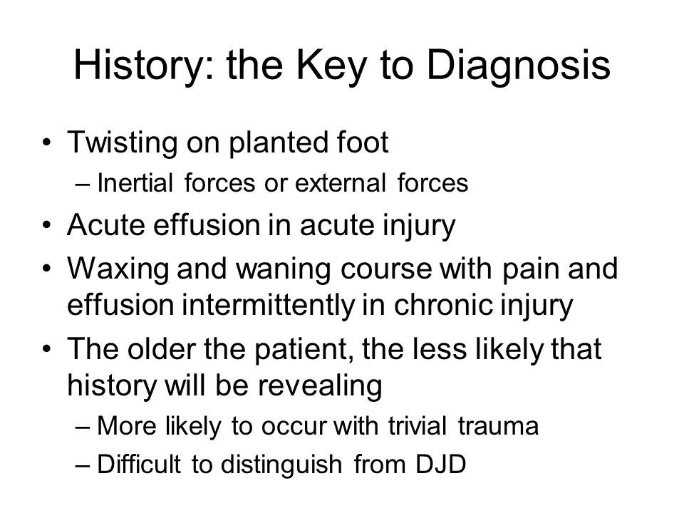 History: the Key to Diagnosis