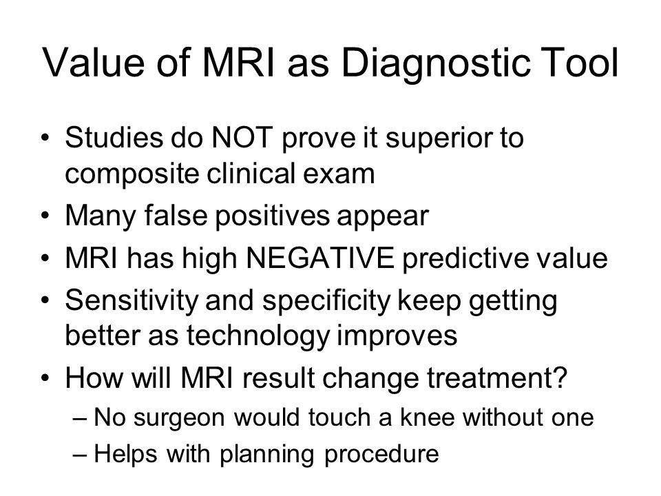Value of MRI as Diagnostic Tool