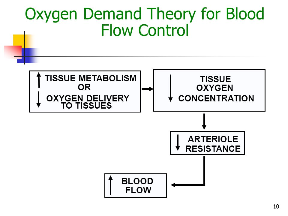 Oxygen Demand Theory for Blood Flow Control