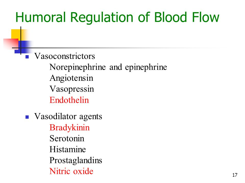 Humoral Regulation of Blood Flow