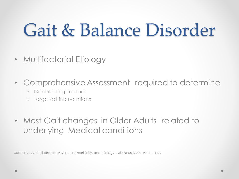 Gait & Balance Disorder